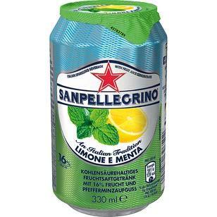 24 Dosen San Pellegrino Limone e Menta a 0.33L inc. 6,00€ EINWEG Pfand Limonade Limone + Minze