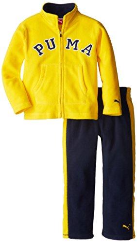 PUMA Little Boys' Colorblock Polar Fleece Set, Gold Fusion, 5