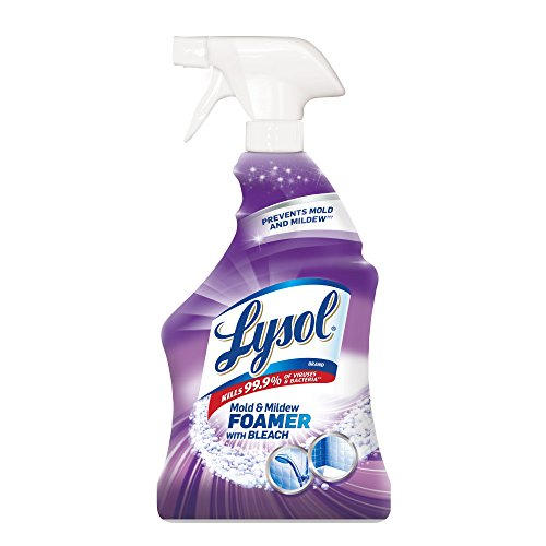Lysol, Mildew Remover Spray with Bleach White, 32 Ounce, (Pack of 12)
