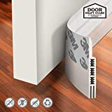 Holikme Door Draft Stopper Under Door Draft Blocker Insulator Door Sweep Weather Stripping Noise Stopper Strong Adhesive 39' Length Transparent