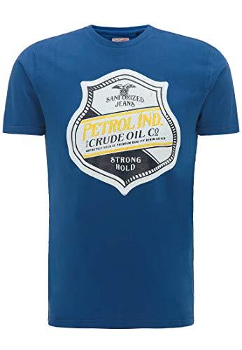 Petrol T Shirt Manica Corta uomo Industries Verde Prato