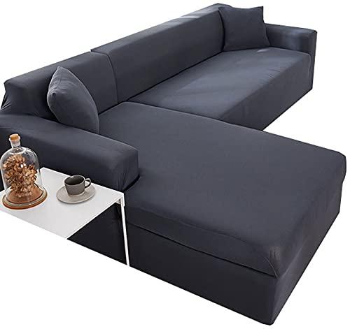 VEAI Funda Sofá Chaise Longue Derecho/Izquierdo Cubre Sofá de Forma L Protector para Sofá Necesita Comprar 2 Piezas (Color : A, Size : 1 Plaza (90-140 cm))