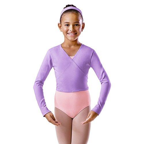 Bloch Ballett Wickeljacke BU501C/L für Kinder und Damen (Lavender (Dunkellila), 3a (Alter 14))