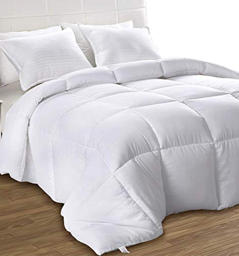 Utopia Bedding Down Alternative Comforter (Twin, White) - All Season Comforter - Plush Siliconized Fiberfill Duvet Insert - Box Stitched