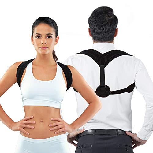 Corrector de postura, cinturón corrector ajustable para kyfosis, cómodo soporte para el hombro para hombres y mujeres, adecuado para correr, deportes, espalda y alivio del dolor de cuello, apoyo de la
