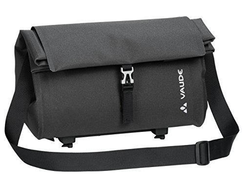 VAUDE Comyou Shopper luggage carrier bag for cycling, waterproof welded, Black (phantom Black),24 x 37 x 18 cm, 15 liters