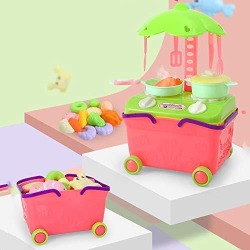 Zwindy Juego de Accesorios de Cocina para Estufa, Juego de Juguete de plástico para Cocina, Juguete de vajilla, simulado para niños