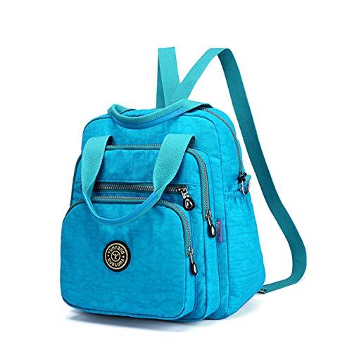 JOSEKO Mode Umhängetasche, Wasserdicht Rucksack Damen Nylon Schultertasche Fraun Handtasche Multifunktion Schulrucksäcke für Mädchen Freitzeit Schule Ausflug Einkauf