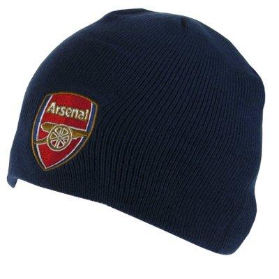 『Arsenal F.C. アーセナル ニット キャップ ネイビー アダルト / 帽子 大人用』のトップ画像
