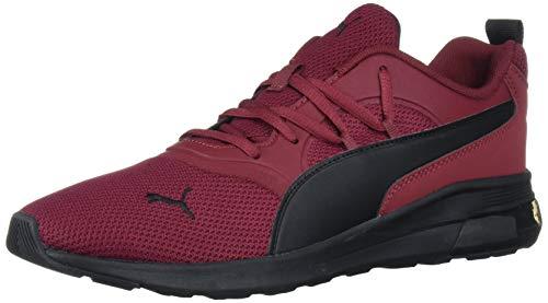 PUMA 594_01 calzado deportivo Niño Femenino Multicolor, Rojo (Cordovan-puma Negro), 47 EU