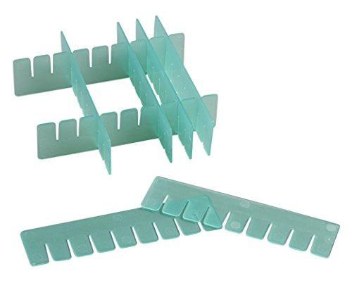 Camlab kunststof RTP/72701-dg scheidingswanden Box, in hoogte verstelbaar, groen (16 stuks)