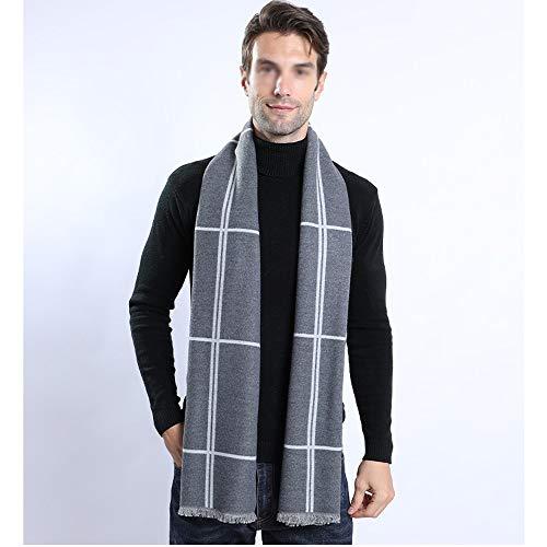 Hombres bufandas de otoño Mens invierno gruesa bufanda de algodón sólido de...