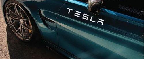 SUPERSTICKI Tesla Sticker Decal TSLA Electric P90D Model X Model S Model 3 USA 12
