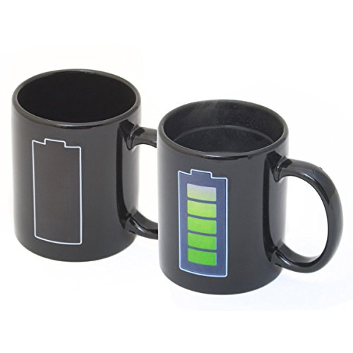 GOODS+GADGETS Animierte Tee Tasse Kaffeetasse wärmeempfindlicher Retro Kaffeebecher mit Thermoeffekt Farbwechsel Motivwechsel (Akku)