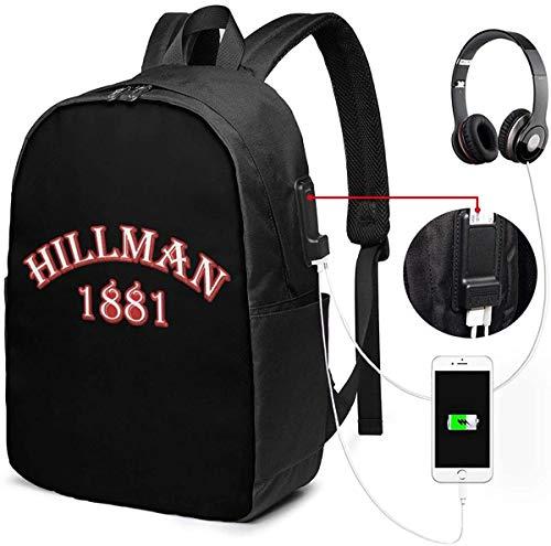 Llynice Hillman College USB Rucksack Carry On Taschen 17 Zoll Laptop Rucksack für Reisen Schule Business