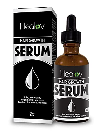 Natural Hair Growth Serum, 2 oz – Intensive Fast Grow Blend of Essential Oils – Thickening, Strengthening Damage Repair Treatment for Thinning, Baldness – Safe, Nontoxic, Vegan Anti Hair Loss Products for Men & Women