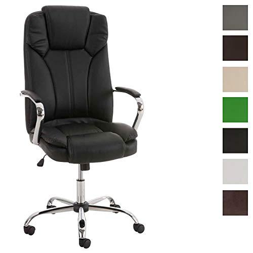 CLP XXL - Bürostuhl XANTHOS mit hochwertiger Polsterung und Kunstlederbezug I Drehbarer und...