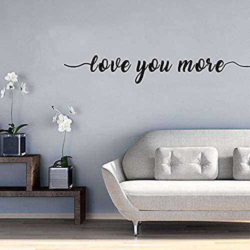 3D Love You More Étanche Stickers Muraux Mur Art Décor PVC Stickers Muraux Chambre Chambre de Bébé Décoration 57 cm X 70 cm