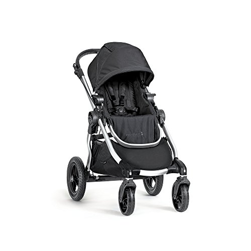 Baby Jogger City Select Double Stroller - 2016 | Baby Stroller with 16 Ways to Ride, Included Second Seat | Quick Fold Stroller, Onyx