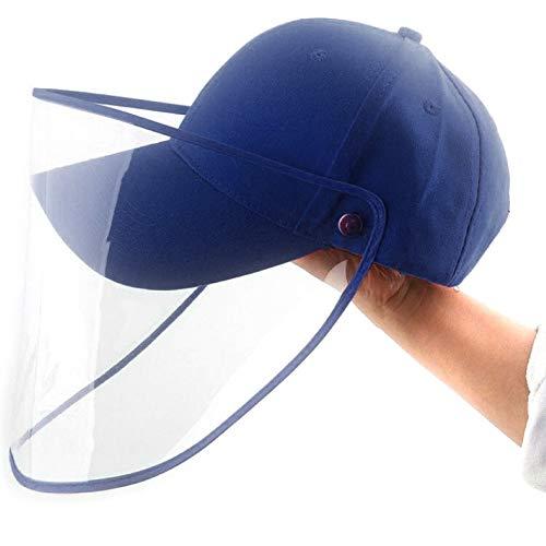 Lovejoy Store Baseballkappe mit Vollgesichtsschutz, Anti-Spucken Anti-Nebel Staubdicht Abnehmbares Visier Full Face Cover Maske Cap für Männer und Frauen, rot