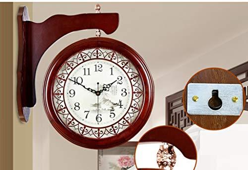 Archaize chinois montre murale de salon grande horloge double face Ming et Qing Creative Archaize moderne horloge silencieuse à quartz