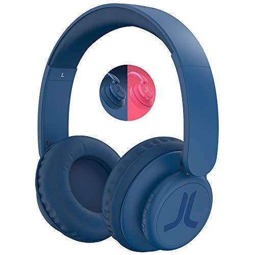 WESC Auricolari Wireless, Cuffie On-Ear con 9 Ore di Riproduzione o 11 Ore di Chiamata, Cuffie Bluetooth con Controlli Touch, Pieghevoli, Leggeri, da Viaggio - Blu Navy