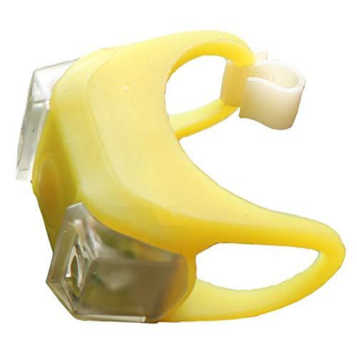 LED Kinderwagen Im Freien Wasserdichte Flash Nacht Erinnern Lichter Sicherheit Alarm Licht Zubehör für Baby Safe (Gelb) 1 STÜCK