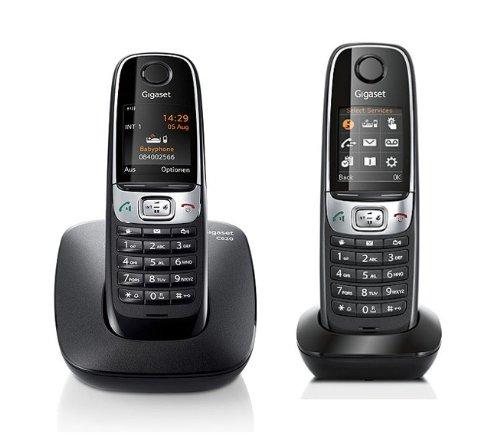 Gigaset C620 / C 620 Duo schwarz mit insgesamt 2 Mobilteilen