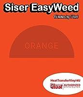 Siser EasyWeed アイロン接着 熱転写ビニール - 15インチ 1 Yard オレンジ HTV4USEW15x1YD