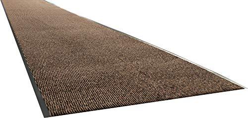 Carpe mathique® Fußmatte innen hauseingang Nassau Anthrazit, Beige, Blau, Braun, Rot - 120 x 400 cm - Braun