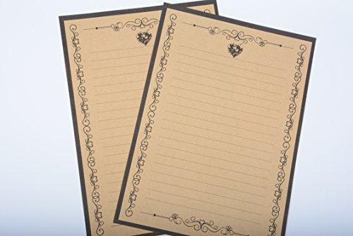 IMagicoo 64 Vintage Retro Cute Design Writing Stationery Paper Pad Letter Set (khaki-2) Photo #3