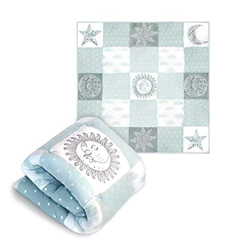Cambria Baby Organic Cotton Baby Quilt. Thick Comforter...