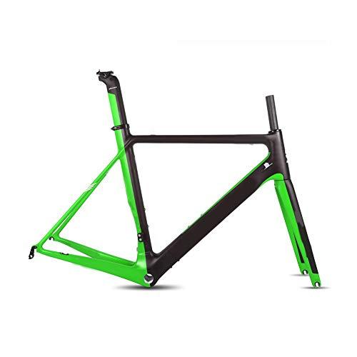 Ultraleichter Carbon Rennradrahmen Carbon Rennrad Größe 49/51/56 / 58Cm 2 Jahre Garantie (glänzend),58cm
