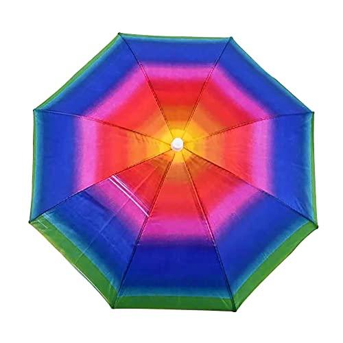 Raspbery Gorros De Paraguas Para Adultos, ArcoíRis Paraguas De Pesca, Bandas EláSticas Paraguas Cabeza, Para El Sol Y La Lluvia Sombrero Sombrero De Paraguas De Pesca, EláStico Y Elegante Para awesome