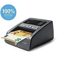 Safescan 155-S Negro - Detector automático de billetes falsos para una verificación 100% - Preparado para los nuevos billetes de 100€ y 200€