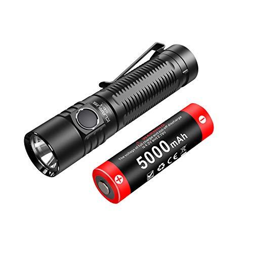 Klarus G15 4000 Lumen Ultrahelle kompakte wiederaufladbare LED-Taschenlampe, CREE XHP70.2 LED, 5000 mAh 21700 Batteriebetriebene EDC-Taschenlampe mit langer Laufzeit und seitlichem Schalter