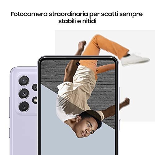 Samsung Galaxy A52 Smartphone, Display Infinity-O FHD+ da 6,5 pollici, 6 GB RAM e 128 GB di memoria interna espandibile, Batteria 4.500 mAh e ricarica Ultra-Rapida White [Versione Italiana]