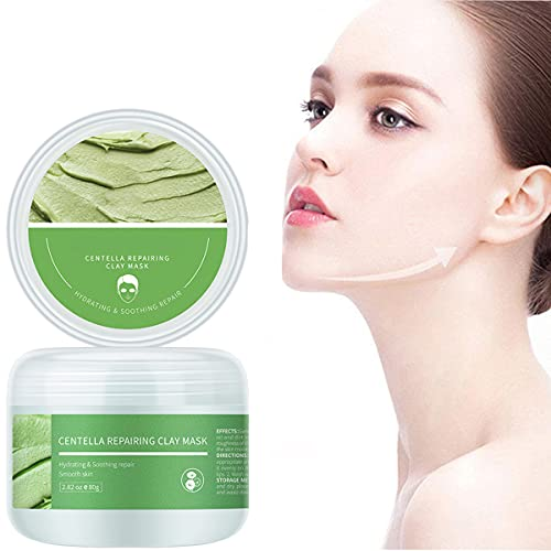 ZMME Facial Mud Mask Skin Care, Centella Repairing Clay Masks, Facial Mud Masks for Women Skin Care, 2.82 Oz Deep Cleansing and Moisturizing