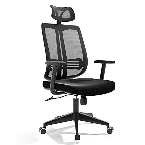 Fanuosuwr Exquisite Bürostuhl High Back Mesh Bürostuhl Ergonomischer Computerschreibtischstuhl einstellbar Komfortable Erfahrung (Farbe : Black, Size : One Size)