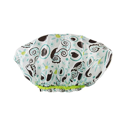 Betty Dain Stylish Design Mold Resistant Shower Cap, The Hipster Collection, Hippie Chick by Betty Dain
