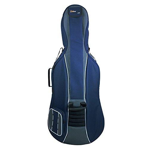 Tomandwill Classic - Custodia imbottita per violoncello 1/2, colore blu/grigio
