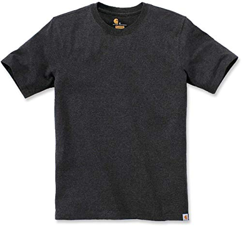 Carhartt Workwear Solid T-Shirt Lavoro, Carbon Heather, S Uomo