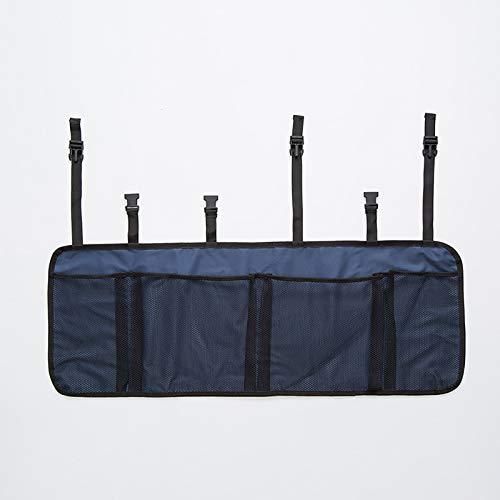 QWY-Car Trunk Organizer- Back Protectors, Multi-Pocket Children's Travel Storage, Durable Foldable Cargo Net Storage for Car Backseat Cover (Black),navy blue