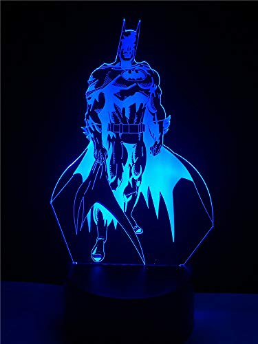 Fashion Party Decor Table Lamp Usb Led 3D Multicolor Creative Batman Shaped Lighting Cable Kid'S Gift Bedroom Night Light