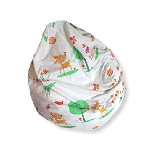 millemarille Sitzsack für Kinder & Erwachsene   XL Sessel ø 80 cm, 240 Liter   Bean Bag aus formstabilen & ungiftigen EPP Perlen   Bezug waschbar & auswechselbar, Ökotex 100   Forest Animals