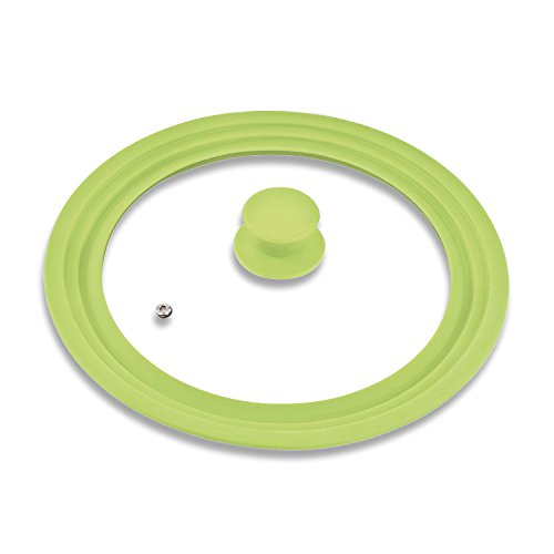 bremermann® Universal-Glasdeckel mit Silikonrand, 30/32/34 cm, groß (Grün)