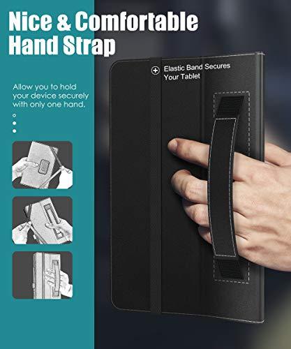 MoKo Hülle Kompatibel mit Vankyo MatrixPad S20 Tablet, Kunstleder Ständer Schutzhülle Tasche Cover mit Stift-Schleife Standfunktion - Schwarz