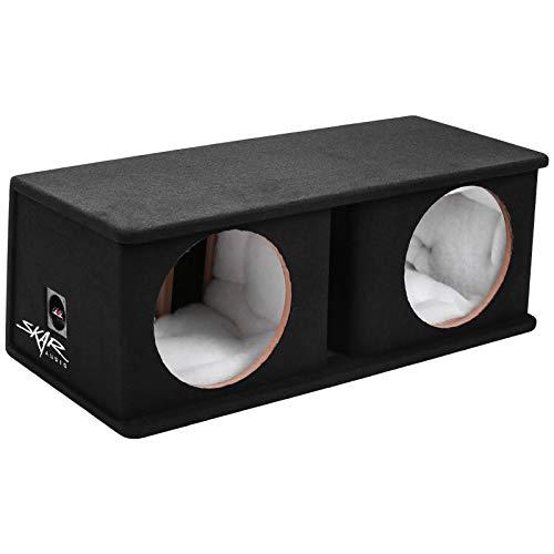 """Skar Audio SK2X12V Dual 12"""" Universal Fit Ported Subwoofer Enclosure"""