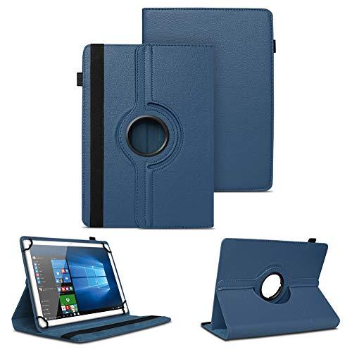 NAUC Schutzhülle kompatibel für Archos Copper 101C Tablet Tasche Universal Hülle aus Kunstleder Standfunktion 360 Drehbar Cover Hülle, Farben:Blau