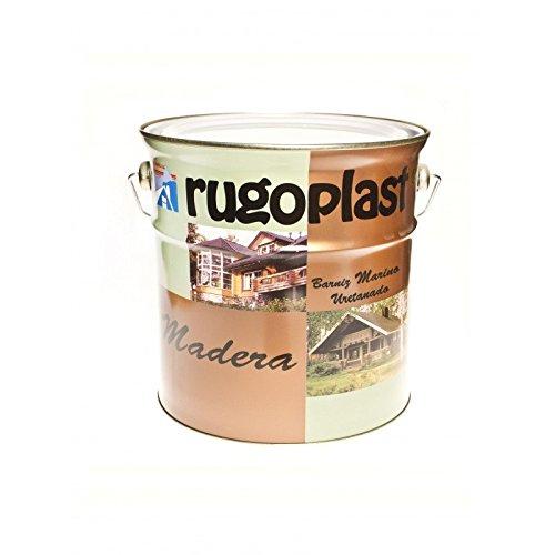 Rugoplast - Barniz marino uretanado altamente resistente a los ambientes marinos, ideal para decorar superficies de embarcaciones y construcciones de madera cerca del mar, 4L, Incoloro